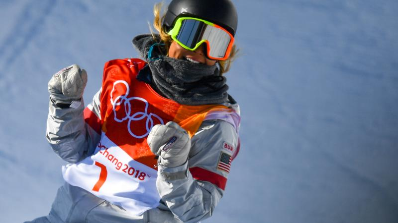 Chloe Kim won the gold medal in the snowboard women's halfpipe final at Phoenix Snow Park in the Winter Olympics in Pyeongchang, South Korea.