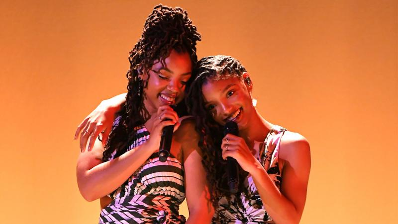 Chloe x Halle, performing on April 11, 2019 in New York.