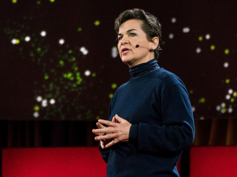 Christiana Figueres speaks at TED2016 - Dream, February 15-19, 2016, Vancouver Convention Center, Vancouver, Canada. Photo: Bret Hartman / TED