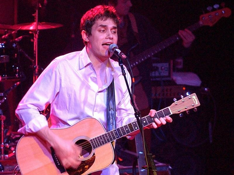 John Mayer performs at Irving Plaza in February 2002 in support of his debut full-length studio album, Room for Squares.