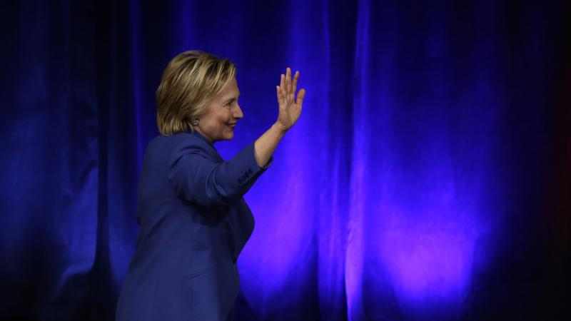 Hillary Clinton leaves after speaking at the Children's Defense Fund Beat the Odds Celebration at the Newseum in Washington on Nov. 16. It was her first speech since losing the presidential election.