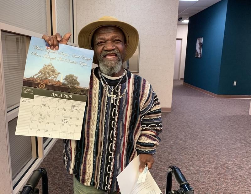 John Poynter of Clarksville, Tenn., uses a wall calendar to keep track of all his appointments for both behavioral health and physical ailments. His mental health case manager, Valerie Klein, appears regularly on the calendar — and helps make sure he ge