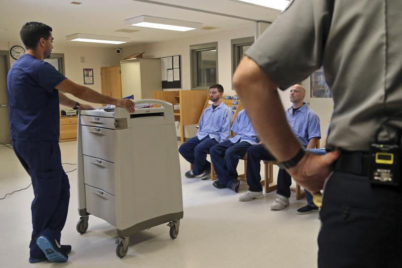 In Massachusetts last July, several Franklin County Jail inmates were watched by a nurse and a corrections officer after receiving their daily doses of buprenorphine, a drug that helps control opioid cravings. By some estimates, at least half to two-third