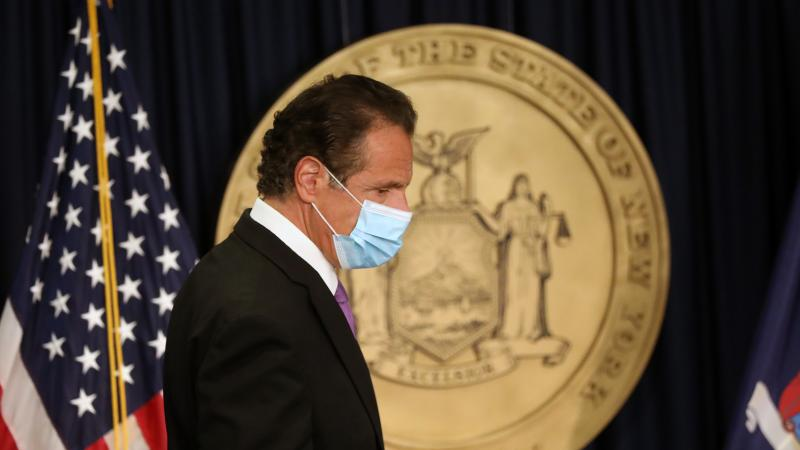 """New York Gov. Andrew Cuomo, pictured at a news conference earlier this month, said Thursday that """"we're going to put together our own review committee headed by the Department of Health."""""""