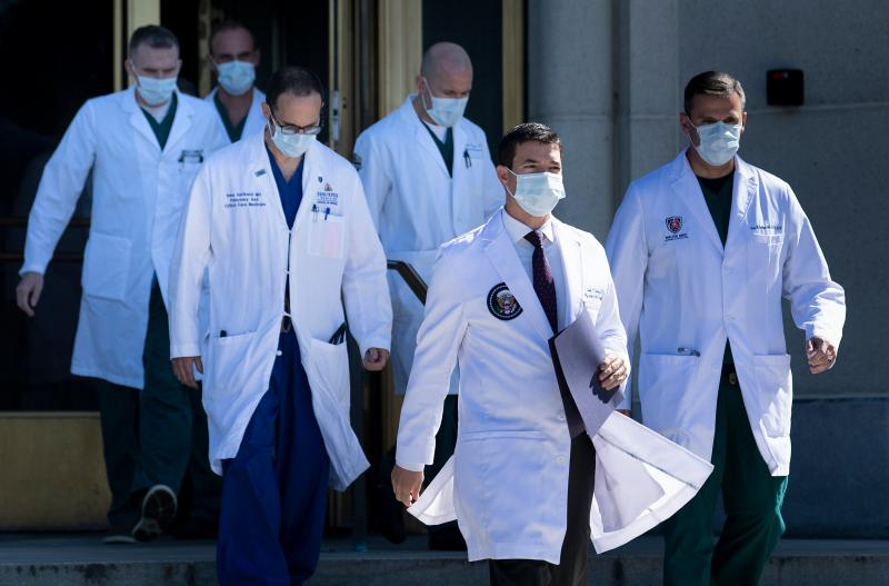 President Trump's team of medical specialists overseeing his care at Walter Reed National Military Medical center. He will still have access to round-the-clock care from the White House medical staff.