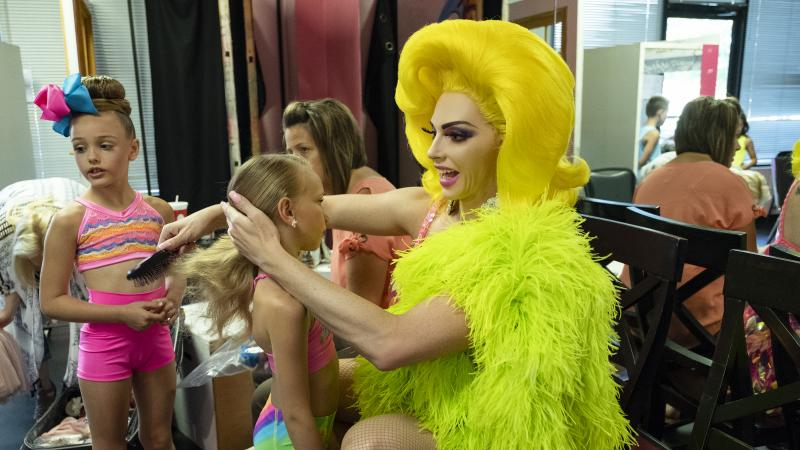 A big bird and her chicks: Alyssa Edwards teaches dance in Mesquite, Texas, in the reality series Dancing Queen.