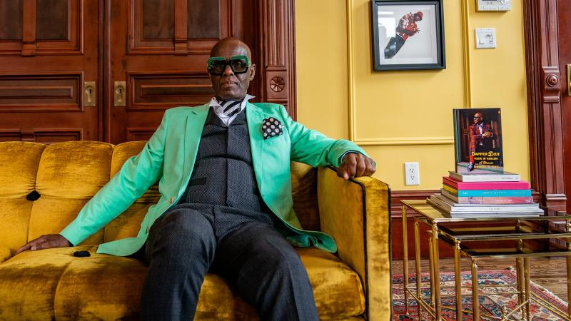 """""""I consider myself one who creates clothes, and fashions clothes, and uses it as a vehicle to fashion young minds,"""" says clothier Dapper Dan."""