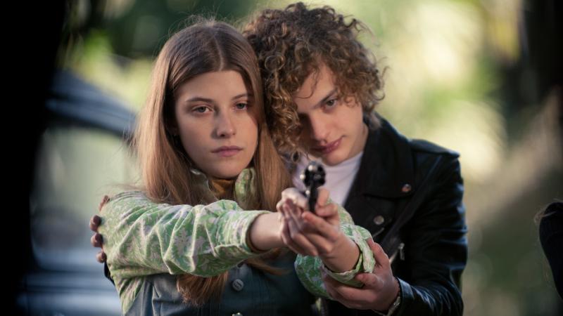 Marisol (Malena Villa) and Carlos (Lorenzo Ferro) get triggered in El Angel.