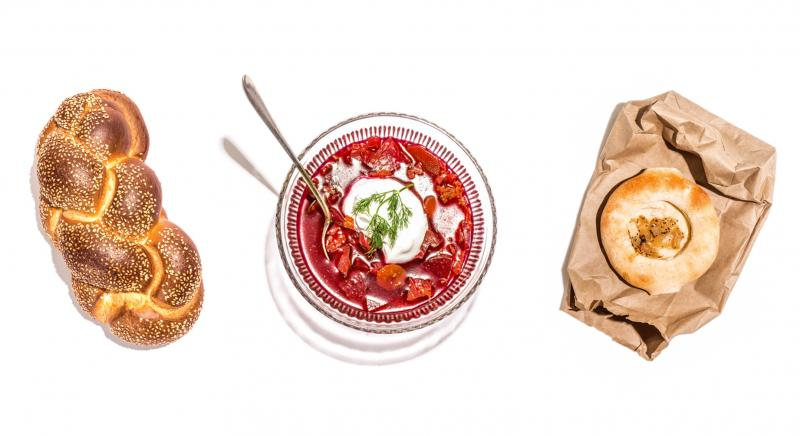 Challah, borscht and a bialy are among the items listed in The 100 Most Jewish Foods.