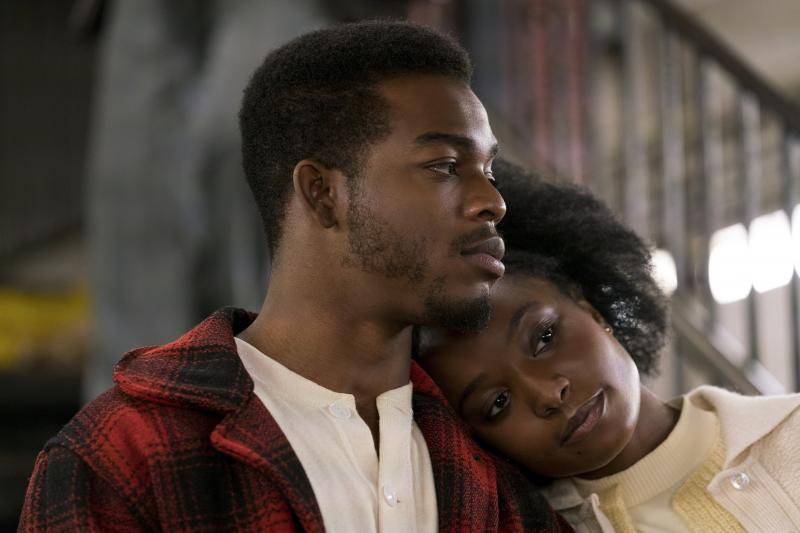 Stephan James and KiKi Layne star as Fonny and Tish, the couple at the center of If Beale Street Could Talk. The movie is director Barry Jenkins' adaptation of a James Baldwin novel of the same name.