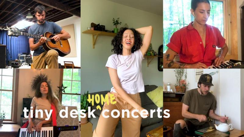 Dirty Projectors plays a Tiny Desk (Home) Concert.