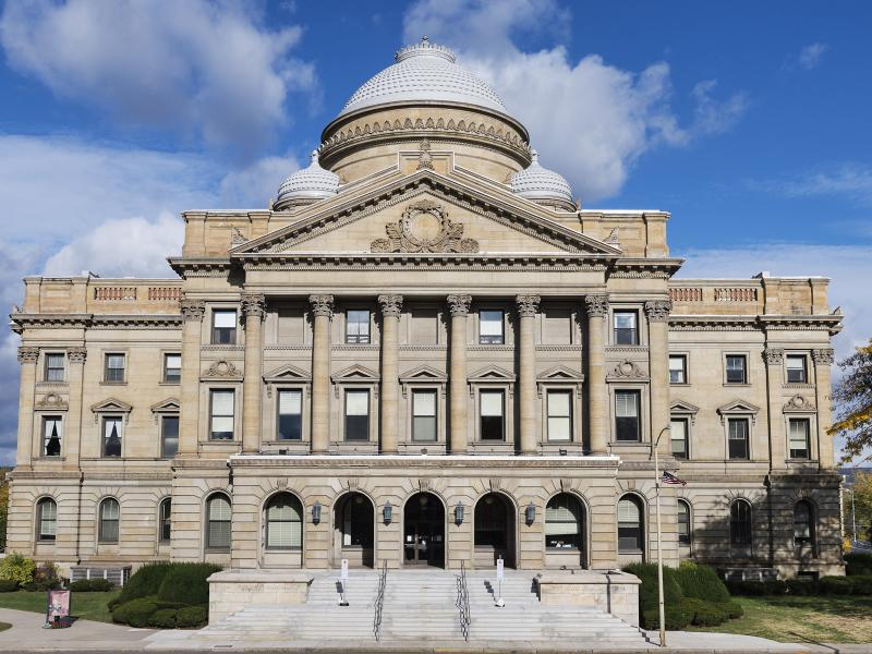 The courthouse in Luzerne County, Pa., where officials this month sent letters to parents who had unpaid cafeteria debt, threatening to take parents to court if the obligations were not settled.