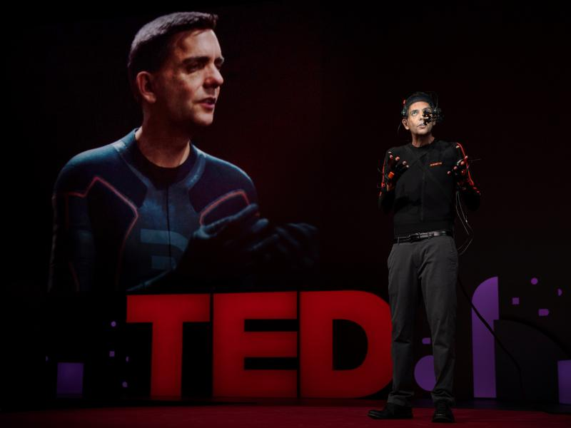 Doug Roble on the TED stage