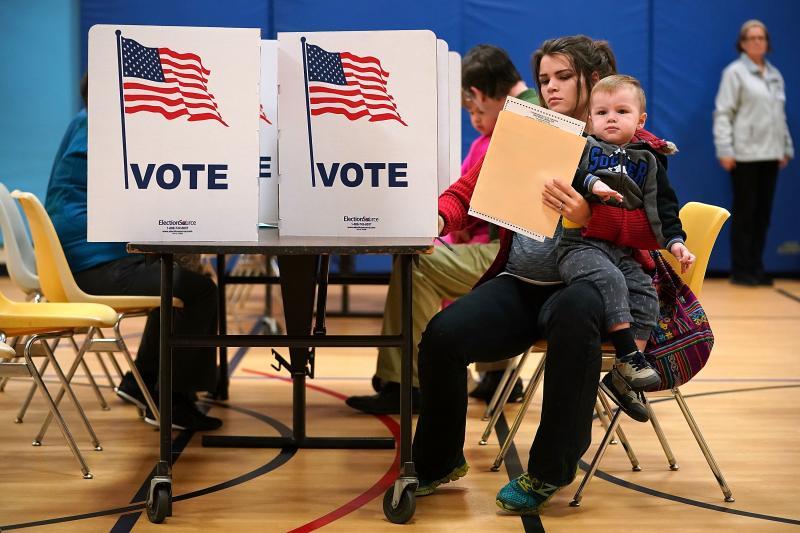 Republican Gubernatorial Candidate In Virginia Ed Gillespie Casts His Vote