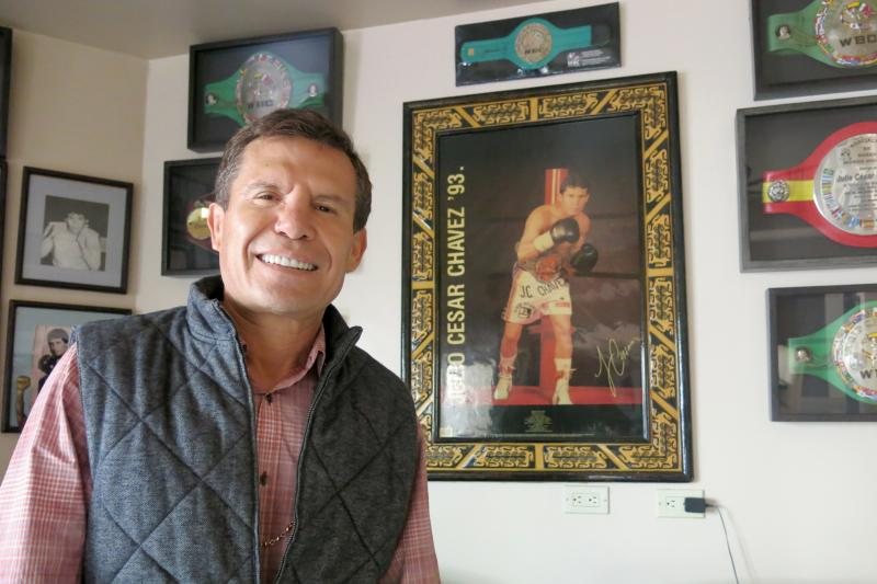 Julio Cesar Chavez at his home in Tijuana, Mexico.