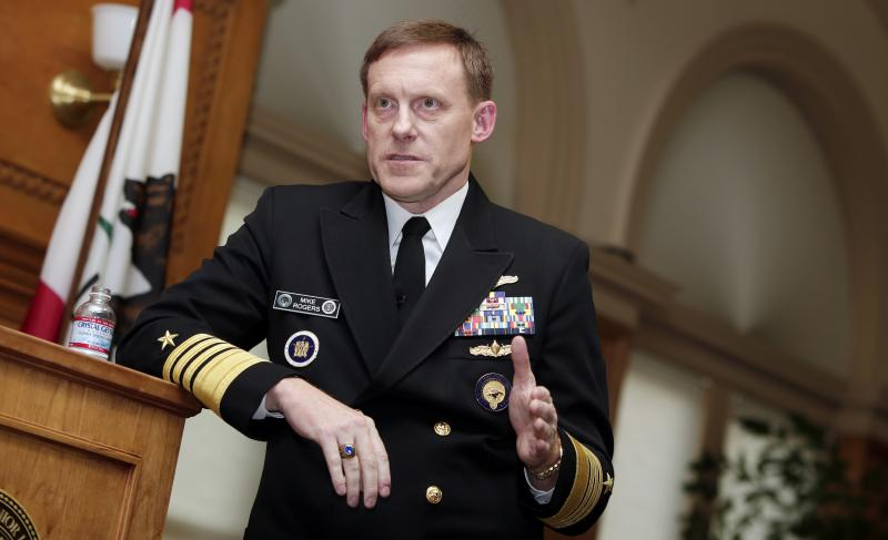 """The former director of the National Security Agency, Adm. Mike Rogers, tells NPR that in the run-up to the 2016 election he wishes """"we had taken more direct, more public action (against Russia) sooner as opposed to doing so after the election."""" He's shown"""
