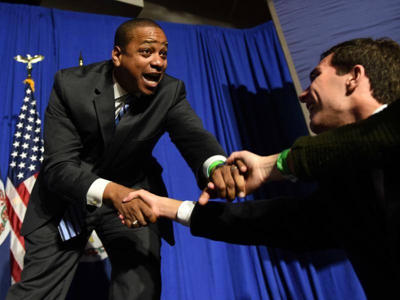 Lt. Gov. Justin Fairfax, D-Va., has not called for embattled Gov. Ralph Northam to resign. Should Northam step aside, Fairfax would become Virginia's second black Governor.