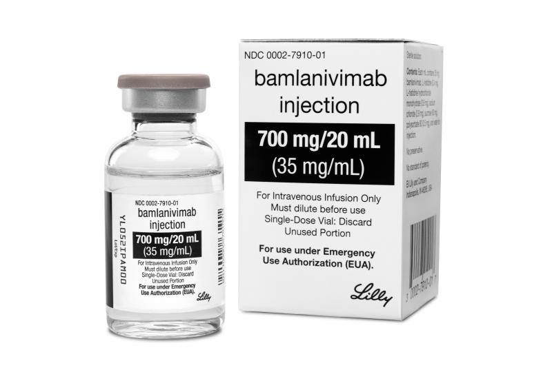 The Food and Drug Administration has authorized Eli Lilly's antibody-based drug bamlanivimab for emergency use as a treatment for COVID-19.
