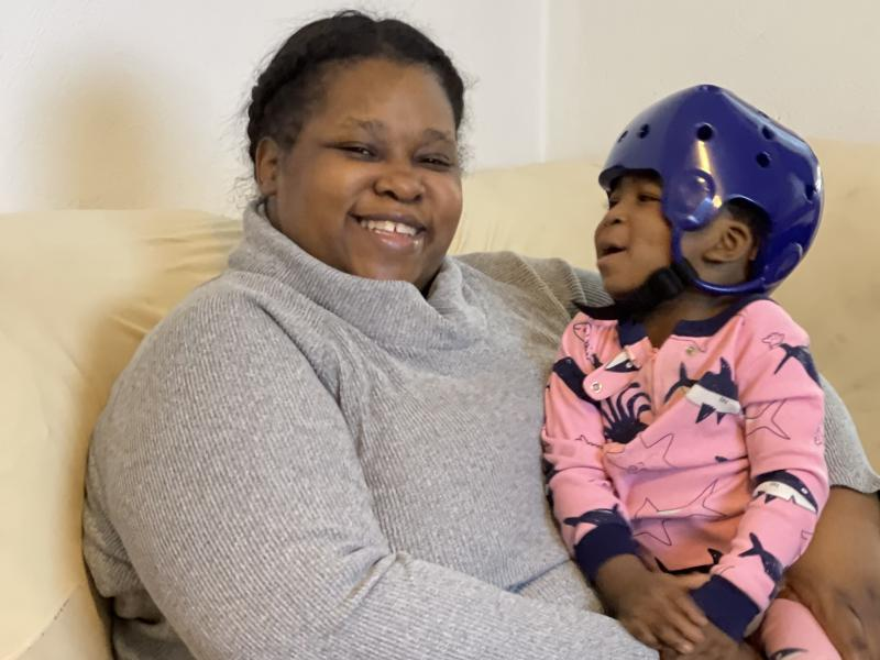 Vinessa Kirkwood, who lives in northwestern Indiana, said she's had to cancel appointments at Riley Hospital for Children in Indianapolis for her 20-month-old son, Donte, because she can't afford to pay for lodging.