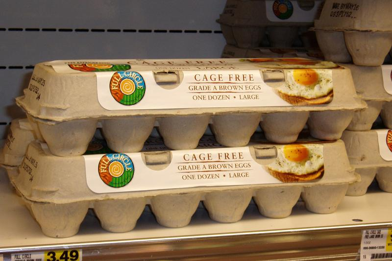 Cage-free eggs for sale in 2008 in Knoxville, Tenn.