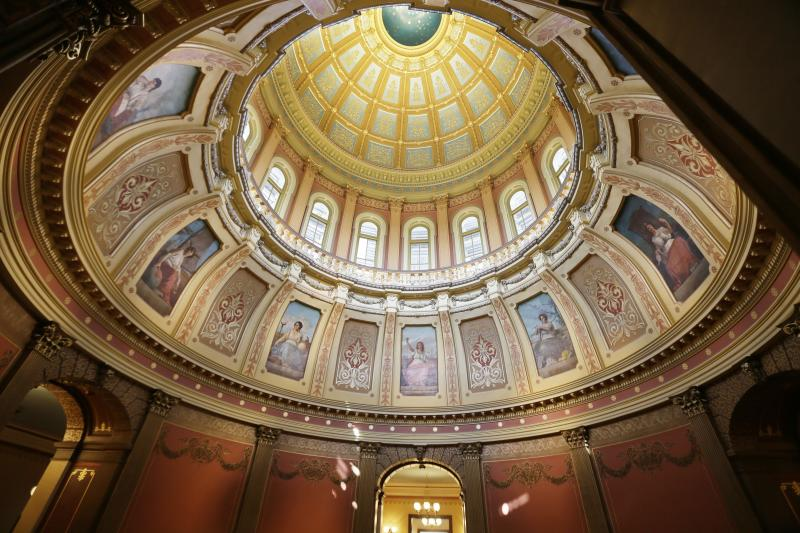 A 2015 photo of the interior of the statehouse dome in Lansing, Mich. A federal court has ruled that the state's congressional map and some state legislative districts were unfairly gerrymandered to benefit Republicans.
