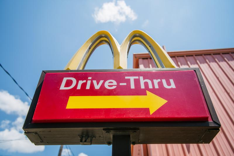 A McDonald's sign in Houston on July 28.