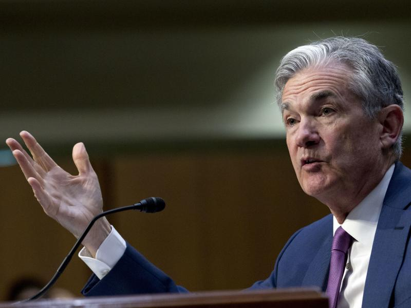 Federal Reserve Board Chairman Jerome Powell faced questions before the Senate Banking Committee on Tuesday about the effects of President Trump's trade policies.