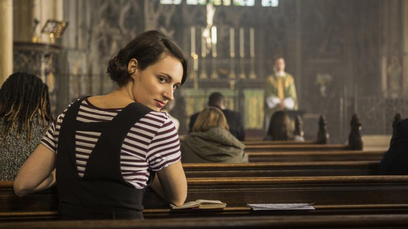 "In the second season of Fleabag, the title character tries to give up sex — and then meets a priest she desires. ""She had to change in some way, between the two seasons,"" Phoebe Waller-Bridge says."