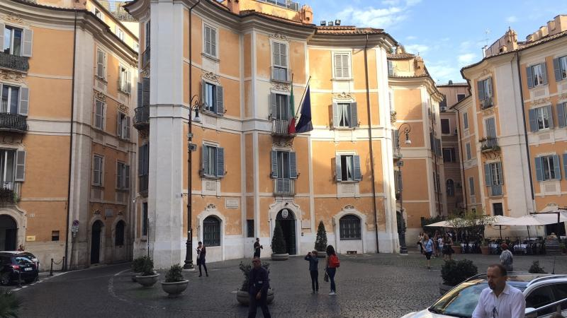The police force for protection of Italy's cultural heritage is headquartered in Rome's Piazza Sant'Ignazio.