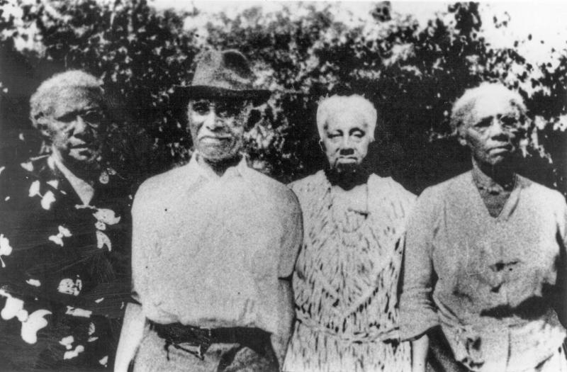 The founders of the Quander family reunion, pictured in 1938, are (from left) Sadie Quander Harris, Tom Quander Susannah Quander and Georgie Quander.