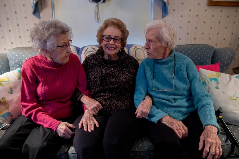 """Dorothy Buchanan, Dorothy Murray and Dorothy Kern — who call themselves """"the three Dots"""" — grew up in the same hometown and celebrated their 100th birthdays together this year."""