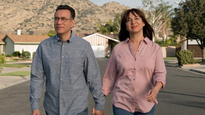 Oscar (Fred Armisen) and June (Maya Rudolph) try to turn their rut into a groove in Forever.