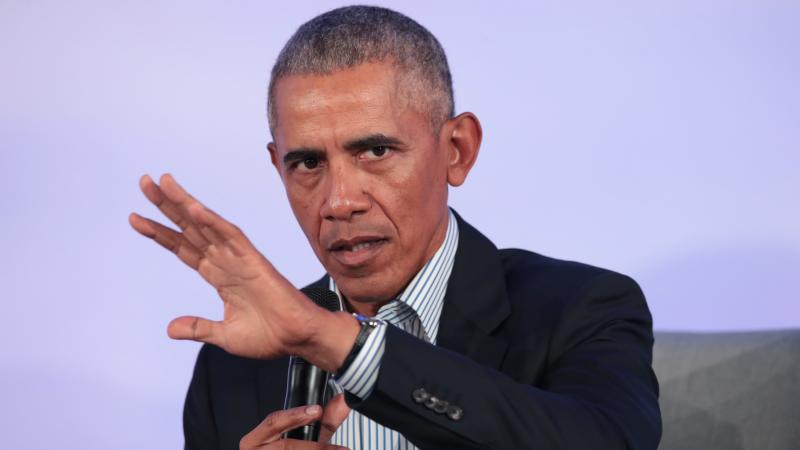 """Former President Barack Obama, here at a Chicago event in October, has weighed in on the aftermath of George Floyd's killing, saying those who've resorted to violence put """"innocent people at risk."""""""