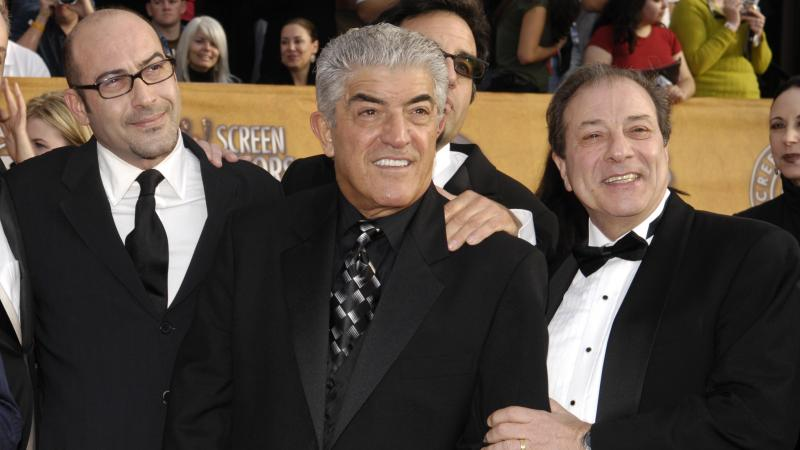 Frank Vincent, seen here in 2007 with colleagues from The Sopranos, has died in New Jersey.