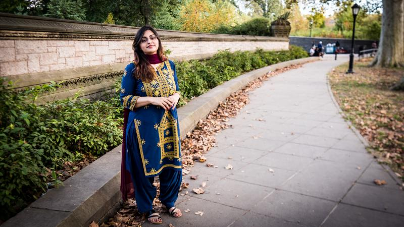 Gulalai Ismail, the Pakistani activist who fled the country after being threatened for taking a stand against sexual violence perpetrated by security forces. She was photographed in Brooklyn, where she is now seeking asylum.