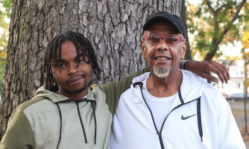 Before Guy Bryant (right) took Romario Vassell (left) into foster care, Vassell had been living in a homeless shelter.