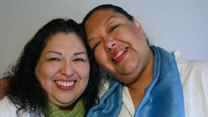 Candi and Estela Reyes shared memories of their father during a 2012 StoryCorps interview in El Paso, Texas.