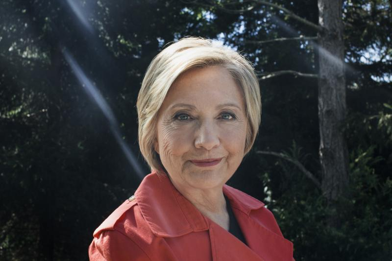 Hillary Clinton at the Glazier Arboretum Park, where she often likes to hike, in Chappaqua, N.Y.