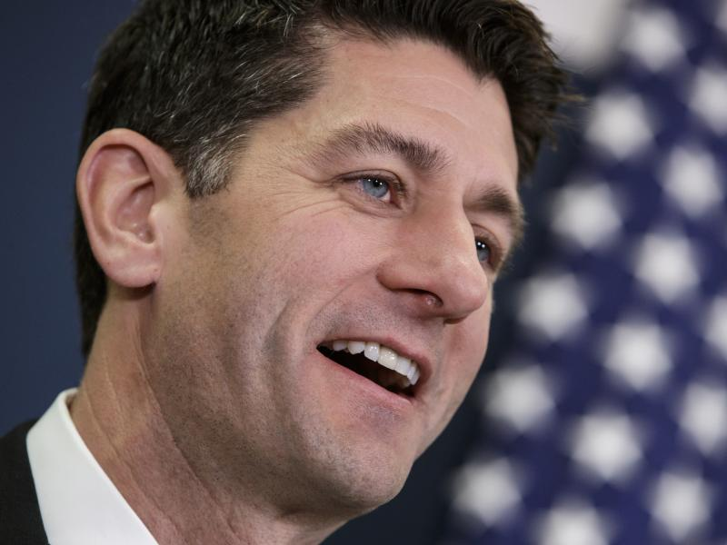 House Speaker Paul Ryan of Wis., speaks after House Republicans held a closed-door strategy session on Capitol Hill in Washington. The Republican-led House passed a bill to make it easier for gun owners to legally carry concealed weapons across state line