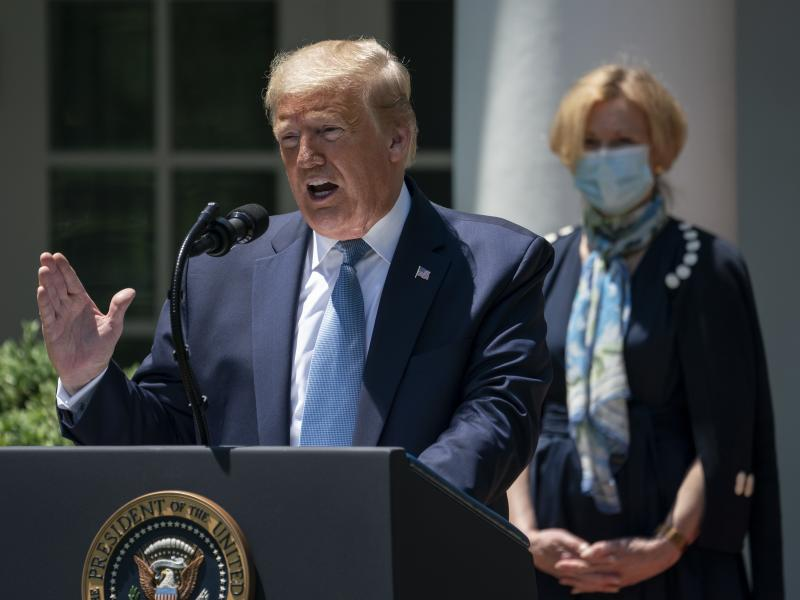 """President Trump announced the creation of Operation Warp Speed in May to fast-track a coronavirus vaccine. He called it """"a massive scientific and industrial, logistic endeavor unlike anything our country has seen since the Manhattan Project."""""""