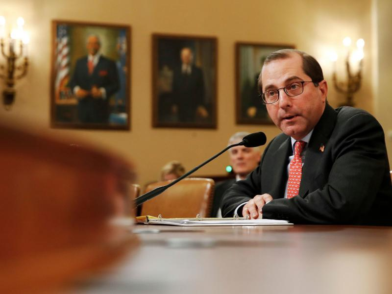 Health and Human Services Secretary Alex Azar faced questions Wednesday from the House Ways and Means Committee about Idaho's move.
