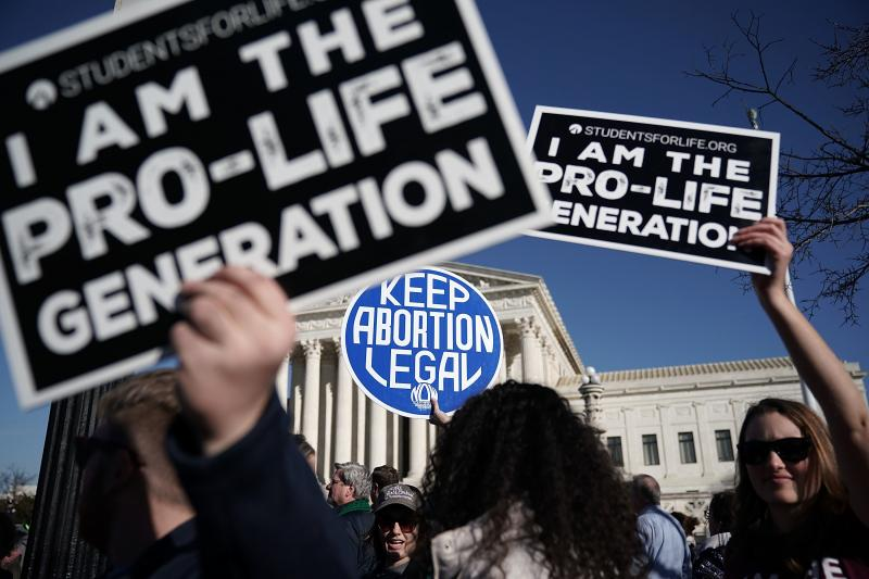 Activists outside the Supreme Court in January voiced their support for abortion rights nationwide.