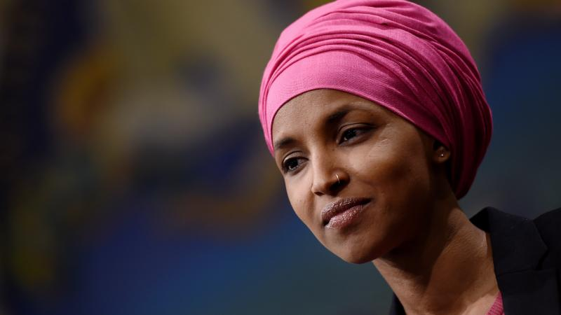 """Rep. Ilhan Omar, D-Minn., attends a press conference on Feb. 26 on Capitol Hill. Omar tells NPR the progressive left """"has moved the needle on the national conversation"""" surrounding certain policies."""
