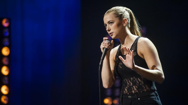 Comedian Iliza Shlesinger's comedy is physical — she contorts, snorts and stalks the stage in her new special, Confirmed Kills.