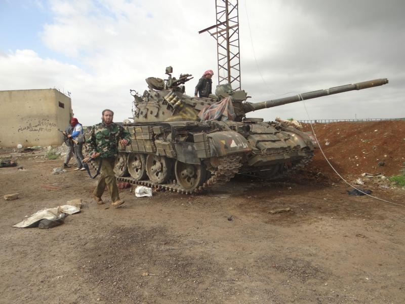Free Syrian Army fighters after a battle against government troops in Zaizoon, near Dera'a, on Feb. 16.