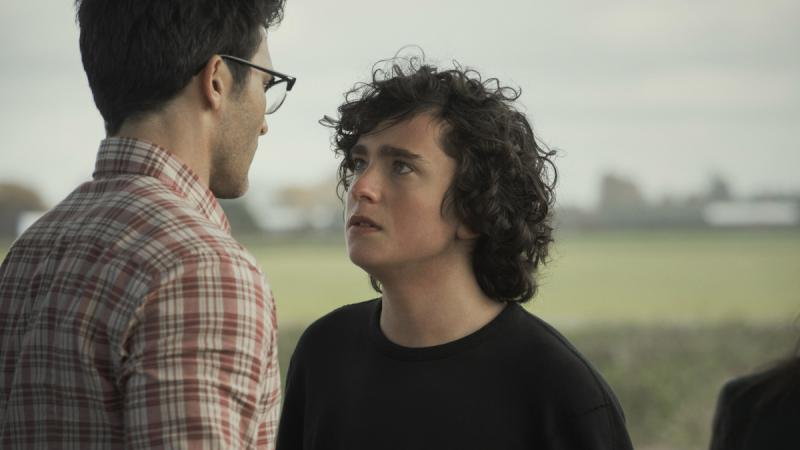 Clark Kent has a tense moment with his son Jordan in the CW's new Superman & Lois.