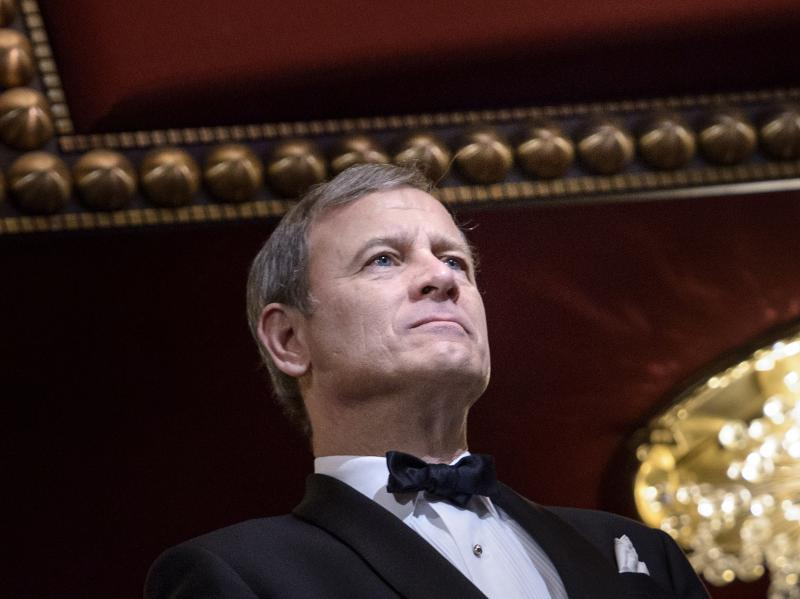 Chief Justice John Roberts attends the 37th Kennedy Center Honors at the Kennedy Center on Dec. 7, 2014, in Washington, DC.