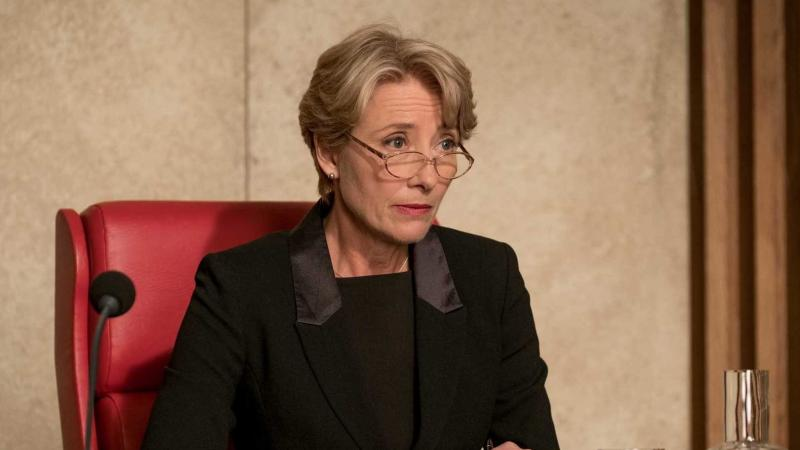 Fiona Maye (Emma Thompson) presides over a humorless script in The Children Act.