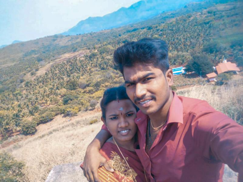 Ezhil Arasi (left) and Ranjith Kumar. The pandemic kept her from her pregnancy checkups. Their baby was born with an intestinal blockage that required surgery and died during the procedure. Doctors told Ranjith that if his wife had been examined regularly