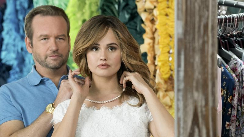 Dallas Roberts and Debby Ryan star in Insatiable, in which story elements are introduced and then abandoned; jokes fall flat, flatter, flattest; and characters change without any explanation or motive.